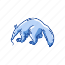 animals, anteater, giant anteater, mammals, solitary mammals icon