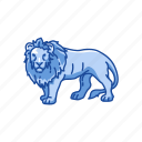 alpha, animal, cat, feline, lion, mammal, wild cat icon