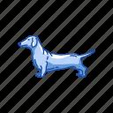 animal, badger dog, dachshund, dackel, dog, hound dog, mammal icon