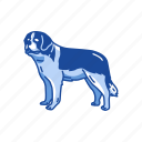 animals, canine, dog, mammal, pet, st.bernard icon