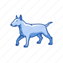 animals, bull terrier, dog, hefty dog, mammal, terrier icon