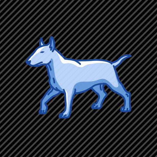 Animals, bull terrier, dog, hefty dog, mammal, terrier icon - Download on Iconfinder