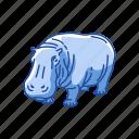 animal, herbivorous, hippo, hippopotami, hippopotamus, mammal icon