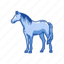 animal, draft horse, horse, mammal, mare, stallion icon