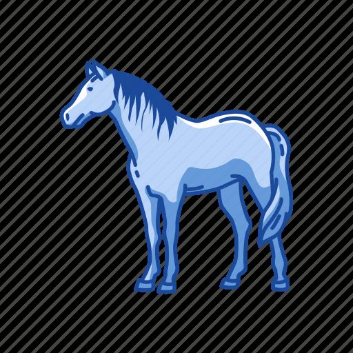 Animal, draft horse, horse, mammal, mare, stallion icon - Download on Iconfinder