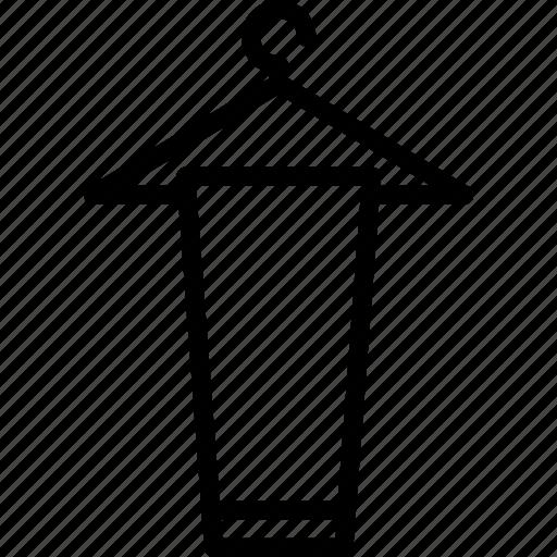 accessories, clothes, fashion, hanger, man icon
