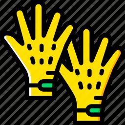 accessories, fashion, gloves, man icon