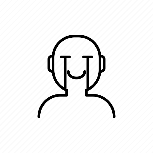 cry, man, relieve, smile icon