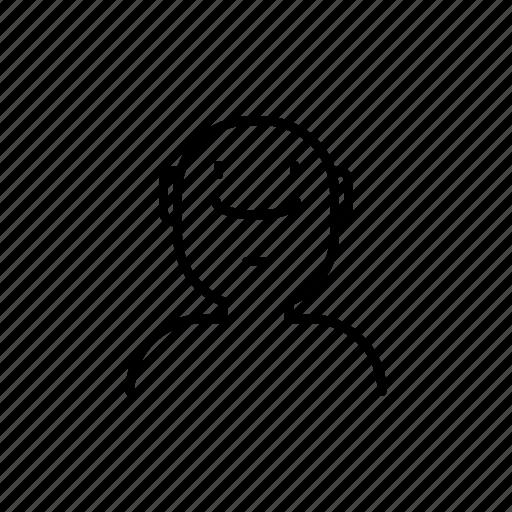 avatar, look up, man icon