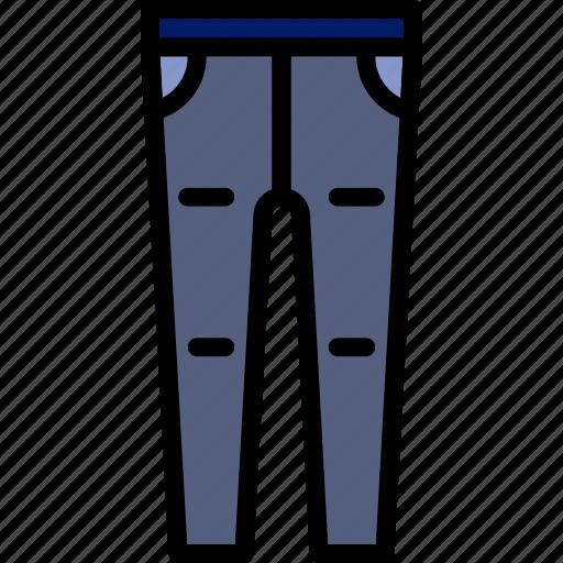 Clothes, tracksuit, fashion, man, pants icon