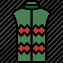 clothes, fashion, man, vest icon