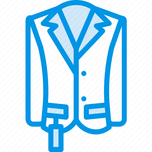Clothes, fashion, man, raincoat icon