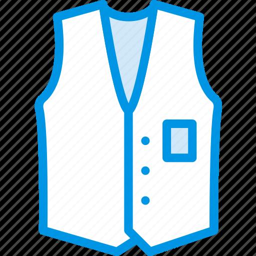 Clothes, vest, fashion, man icon