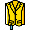 clothes, fashion, man, raincoat icon