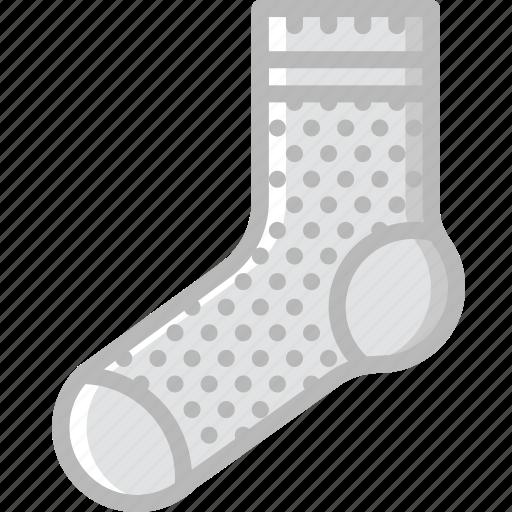 Fashion, footwear, socks, man icon