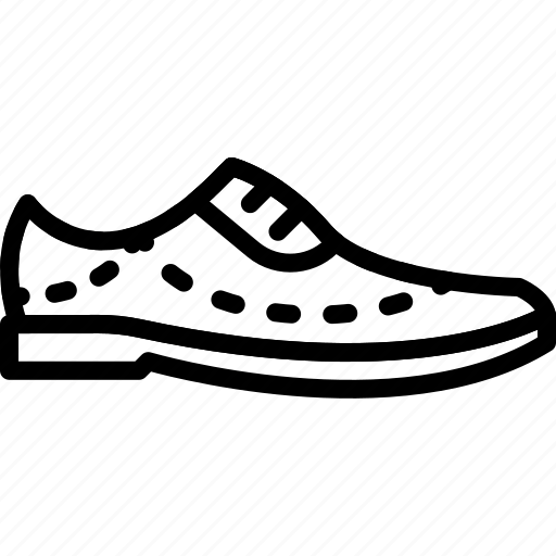 Fashion, dress, shoe, man, footwear icon