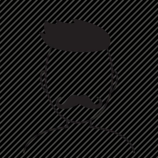 avatar, beard, fashion, hair, hairstyle, human, man icon