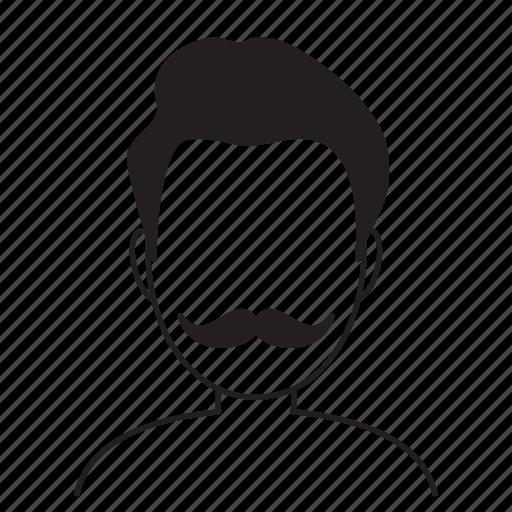 avatar, beard, fashion, hair, hairstyle, man icon
