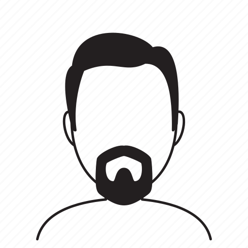 avatar, beard, fashion, hairstyle, male, man, person icon