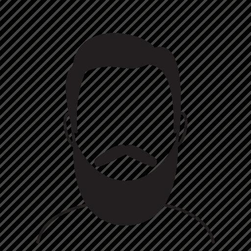 avatar, beard, face, fashion, hair, hairstyle, man icon