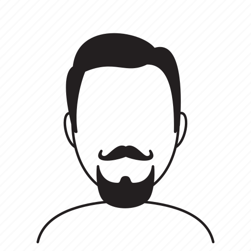 avatar, beard, face, fashion, hairstyle, male, man icon