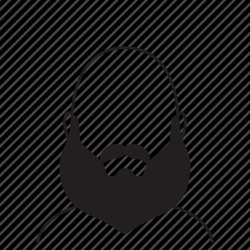 beard, hairstyle, man icon