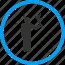 achievement, commander, flag, flagman, guide, leader, person icon