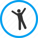 body, cheer, happy, joy, ok, person, pose icon