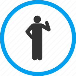 akimbo, body, idea, person, problem, proposal, question icon
