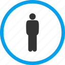 account, client, customer, man, person, stand, standing icon
