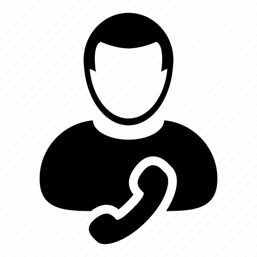 avatar, contact, man, person, phone, profile, support icon