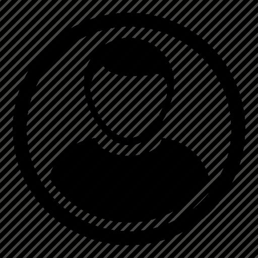 account, avatar, human, man, person, profile, user icon