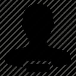account, employee, person, remove, user icon