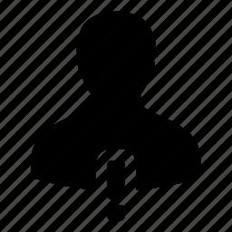 admin, alert, person, profile, user, warning icon