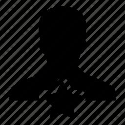 favorite, human, man, person, profile, star, user icon