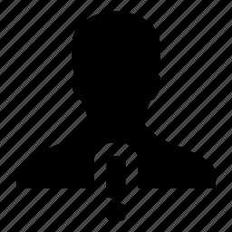 alert, avatar, human, man, person, user, warning icon