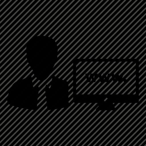 client, computer, customer, internet, user, website icon