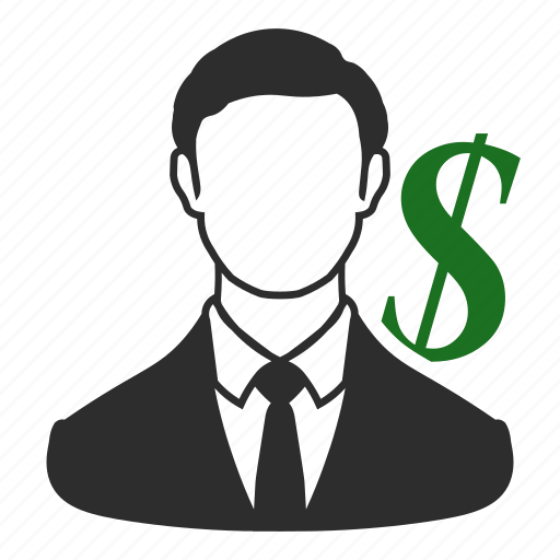 bank, business, financial, investment, marketing, money, salesperson icon