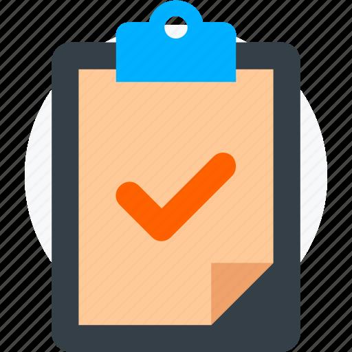 checklist, checkmark, clipboard, completed, list, task icon icon