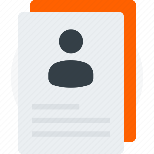 documents, personal, user, user document, user file, user profile icon icon