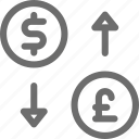 business, buy, exchange, money, sell, shift, transfer icon