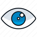 attention, awareness, eye, visibility, watch icon