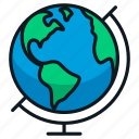 earth, global, globe, map, travel icon