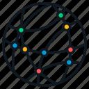 ethernet, globe, internet, intranet, network icon