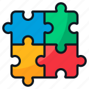pieces, problem, puzzle, solving, strategy icon