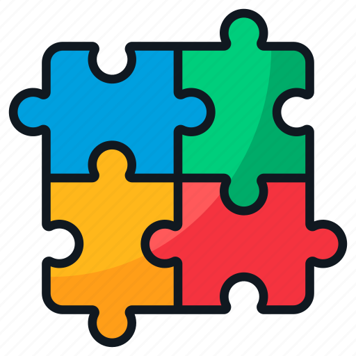 pieces, problem, puzzle, solving, strategy icon