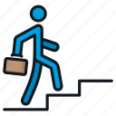 business, development, person, professional, stairs icon
