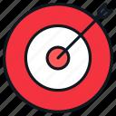 arrow, bullseye, business, goal, target icon