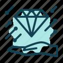 beauty, diamond, like, love, management, success icon