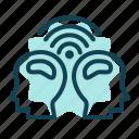 brain, connect, idea, management, signal, team icon